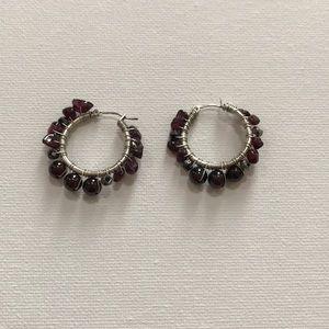 New, J.Jill Beautiful Beaded Hoop Earrings!